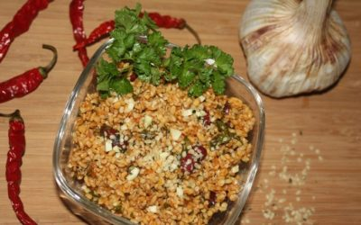 Bulgur Salat mit Kidneybohnen und Kichererbsen